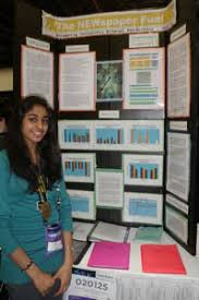 Naima With Project Display Board