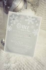 Once Upon A Winter Wonderland Invitation