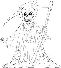 Inspiring Idea Halloween Monster Coloring Pages Scary For Holidays And Observances Downloads