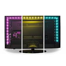 Luminoodle Color Bias Lighting USB TV And Monitor Backlight LED Strip Lights Kit With Dimmer Remote
