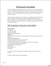 Recruiter Resume Template Hr Examples Beautiful How Write A For Job Good Technical