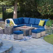 Ebay Patio Table Cover by Fire Pit Patio Sets A Combo Backyard U0026 Garden Hayneedle