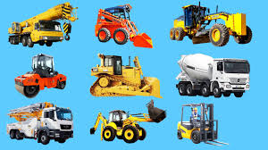 Learning Construction Vehicles Names And Sounds For Kids Machinery ...