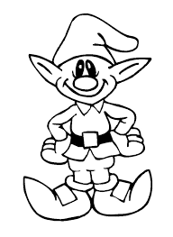 Printable Cute Elves Christmas Coloring Pages