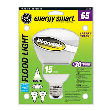 shop ge 65w equivalent dimmable soft white br30 cfl light bulb at
