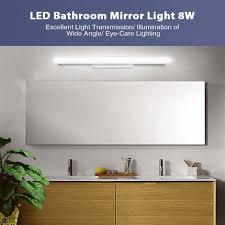 led spiegel wandleuchte 40cm make up licht moderne aluminium wandle für badezimmer wohnzimmer kinderzimmer schlafzimmer küchen oder flure 8w