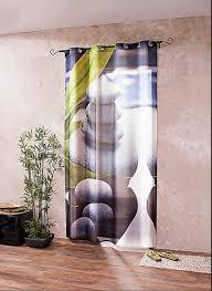 dekovorhang asia style feng shui großformatiges printmotiv