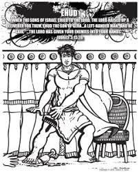 Bible Hero Coloring Page Ehud