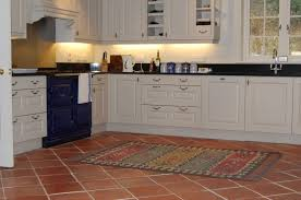cabinet kitchen with terracotta floor tiles in sizing x tile
