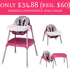 Only $34.88 (Regular $60) Evenflo Convertible High Chair - Deal ... Exceptionnel Chaise Haute Formula Baby Ou Fisher Price Grow With Me Fniture Chairs At Walmart For Ample Back Support Graco Contempo Space Saver High Chair Midnight Folding Bed Home Design Ideas Tablefit Finley Cosco Simple Fold Peacock Cute Your Using Cheap Pretty Portable Cing C Full Size Etched Arrows Infant