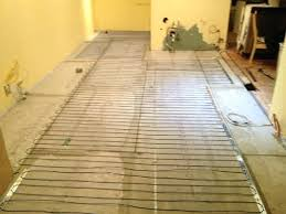 heated tile floor cost radiant heat floor grid before installed