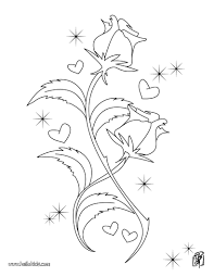 Roses Heart Shape Valentines Day Rose Coloring Page