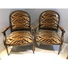 Vintage Henredon Tiger Print Chairs - Set Of 4 | Chic Living Rooms ... Henredon Table And Chairs Blog Capelle Chairside Underthamesky Pair Of Vintage Asian Style Accent Wmarbelized 1970s Burlcain Wood Ding Set 6 All Fniture Mid Century Princsantiquesnet Campaign Chifforobe Brass Pecan Storage Cabinet Chromcraft Game With Casters Dinette Sets Sold Out Henredon Chinoiserie Black Lacquer Cane Seat French Country Oak Etsy Louis Collection Chair H770328