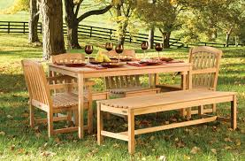 wooden garden furniture in exclusive design with bench and arm