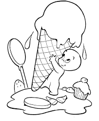 Halloween Ghost Ice Cream Coloring Page Sheets For Kids And Other Activities