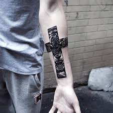 Wrist Cross Tattoos For Men