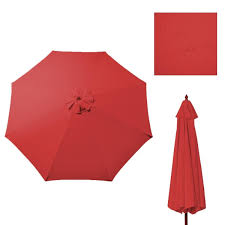 Patio Umbrella Canopy Replacement 6 Ribs 8ft by New Replacement Umbrella Canopy For 9ft 8 Ribs Color Red Canopy