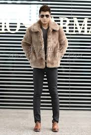 new 2015 winter fashion men faux fur jacket soft and comfortable