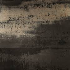 metallic porcelain tile collection steel black 24in x 24in large
