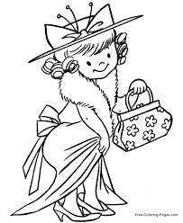 Girl Playing Dress Up Clipart
