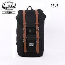Herschel Bag Brand Black Heritage Travel 235L Bolsas Mochila Masculina Classic Laptop Vintage Men Backpack Luggage In Backpacks From