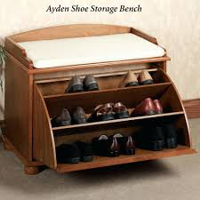 Simms White Modern Shoe Cabinet by Aubrie Shoe Storage Bench Classic Cherry Mid Century Modern Shoe