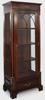 casa padrino luxus vitrine dunkelbraun 70 x 45 x h 192 cm mahagoni vitrinenschrank mit glastür und schublade luxus mahagoni wohnzimmer möbel