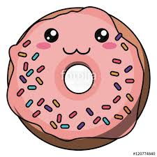 Donut With Kawaii Face Icon