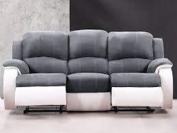 canapé 3 places gris canapé et fauteuil relax en microfibre 3 coloris bilston