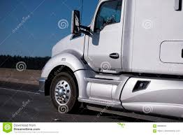 100 Aerodynamic Semi Truck Modern Silver Big Rig Driving By Interstate