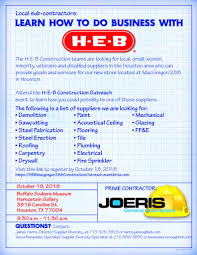 Houston 101918 Learn How To Do Business With HEB