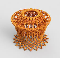 This Unique Piece Of Art Would Definitely Add Some Charm To Your Decorations The Lamp Stand Is Made With Various Craft Beads Forming A Covered Pattern