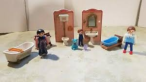 playmobil nostalgie rosa puppenhaus 1900 5324 badezimmer