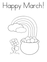 St Patricks Day Printable Coloring Pages Free Worksheets For