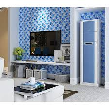 blue glass mosaic tiles crackle tile paint tile kitchen wall
