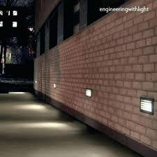 recessed exterior led wall lights outdoor recessed lighting