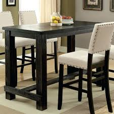 Rustic Pub Table Dark Brown Homestead With Storage Small Mekhail ...