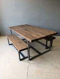 metal and wood picnic table outdoorlivingdecor