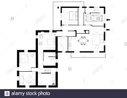 Blueprints House 3d Illustration Blueprints House Model Stockfotos Und