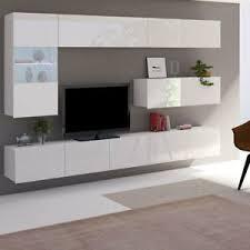 details zu moderne wohnwand calabrini iv hochglanz schwarz wohnzimmer set hängewohnwand