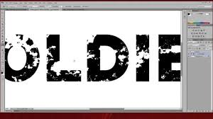How To Make Distressed Type Text In Adobe Photoshop