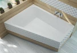 große badewanne eckbadewanne trapez 135x175 cm füße ablauf acryl für zwei links