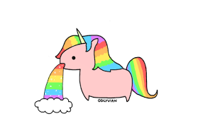 Cute Fat Unicorns Cartoon Rainbow 1491923