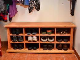 excellent shoe cubby bench 146 shoe storage cubbie bench plans