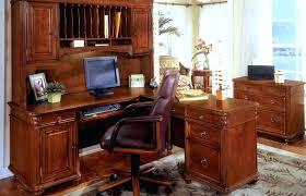 Glass Corner Desk Office Depot by Desk L Shaped Office Desk With Hutch Made Of Teak Wood In Brown