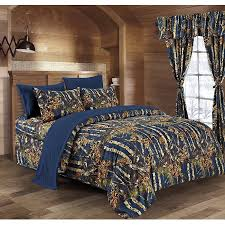 Camo Bedding Walmart by Regal Comfort 5pc Twin Size Woods Navy Blue Camouflage Premium