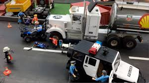 100 Toy Peterbilt Trucks BRUDER S TRUCK Accident POLICE Action RcTruck CRASH