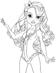 17 Best Photos Of Monster High Halloween Coloring Page