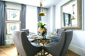 Transitional Dining Room Ideas Round Table Wall Sconces Breakfast
