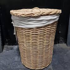 wäschekorb rund handgeflochten 50 x 60